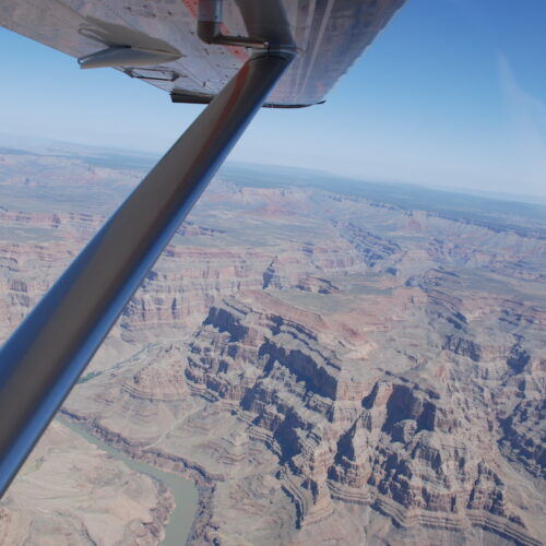 A beautiful view from 9,500 over the Grand Canyon